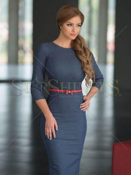 Rochie office Dreamful DarkBlue