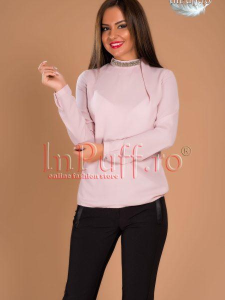 Bluza dama voal roz pal