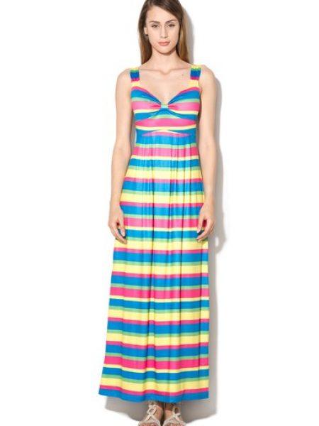 Rochie maxi multicolora in dungi