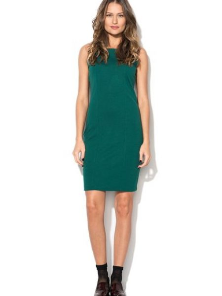 Rochie verde englez cu spate decupat