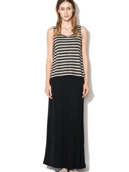 Rochie maxi negru cu gri
