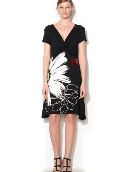 Rochie negru cu alb cu paiete Solea