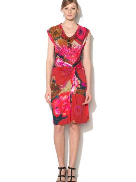 Rochie multicolora cu model cu noduri Azucena