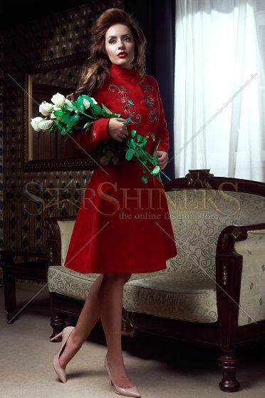 Palton StarShinerS Brodat Rose Spirit Red