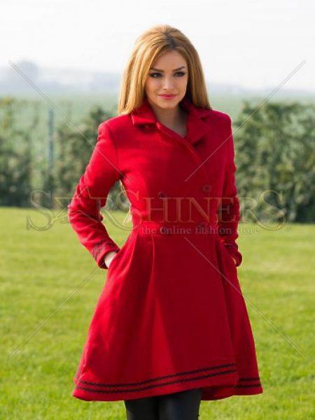 Palton PrettyGirl Heartedly Red