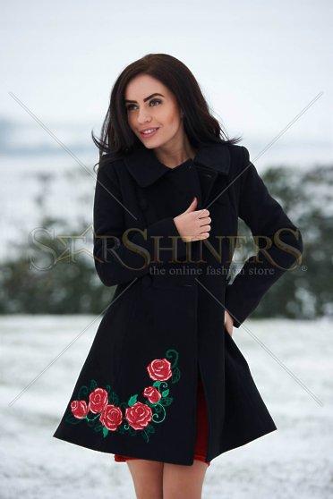 Palton StarShinerS Brodat Rose Desire Black