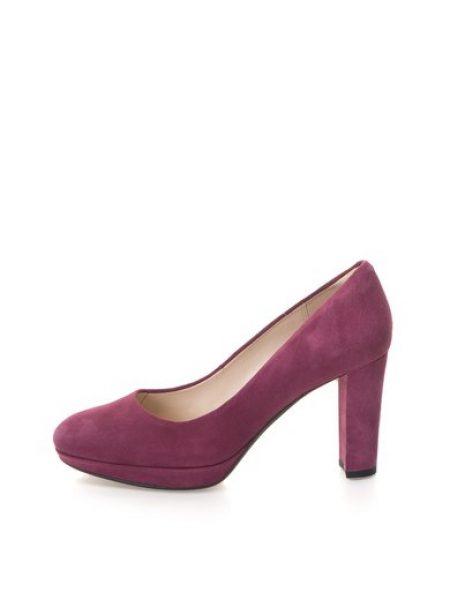 Pantofi violet pruna de piele intoarsa Kendra Sienna