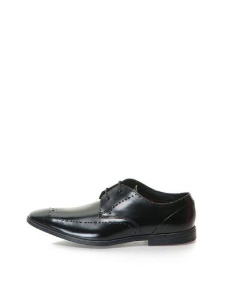 Pantofi negri de piele lacuita Bampton Limit