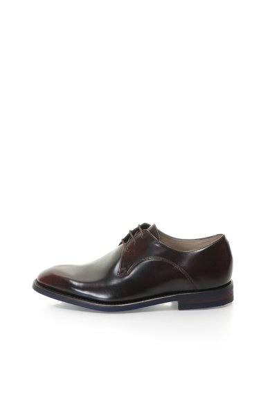 Pantofi maro inchis de piele Swinley Lace