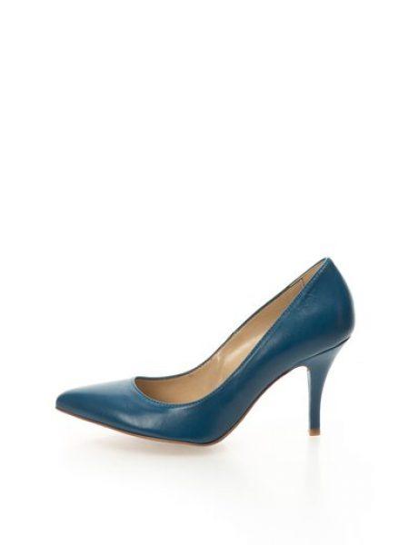 Pantofi albastru mineral de piele cu toc cui Alaska