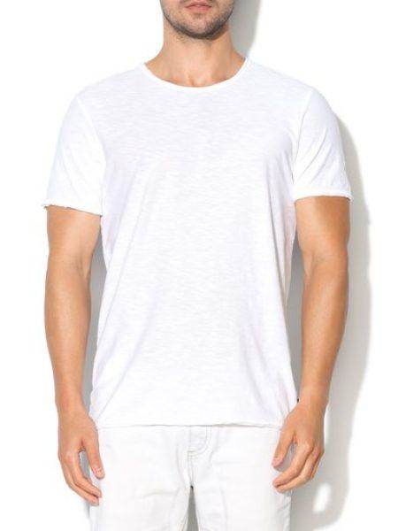 Tricou alb cu decolteu rotund Founding