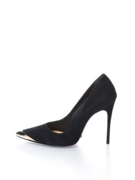 Pantofi negri de piele nabuc