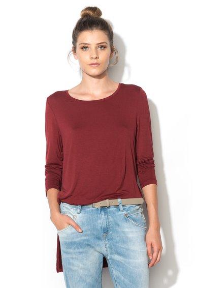 Bluza asimetrica rosu caramiziu Jewel