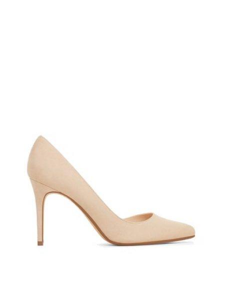 Pantofi d'Orsay gri pastel Audrey