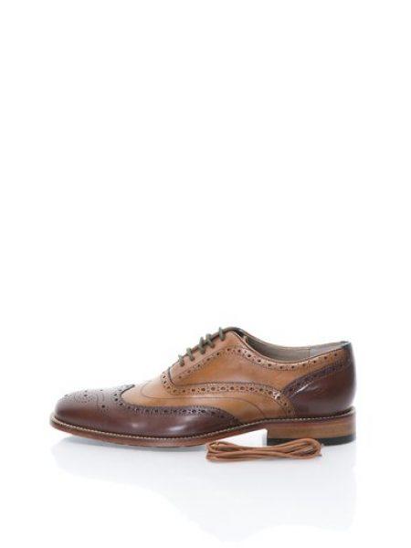 Pantofi Brogue maro din piele Penton Limit