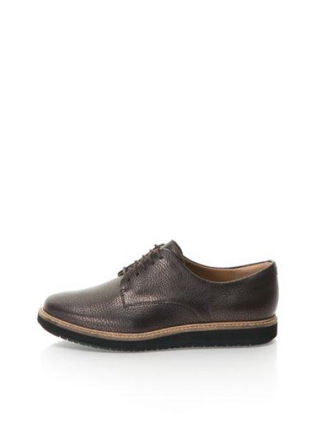 Pantofi maro inchis de piele Glick Darby