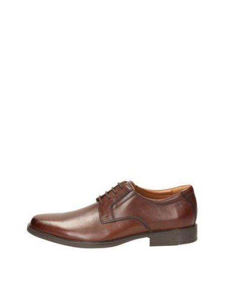 Pantofi Derby maro din piele Tilden