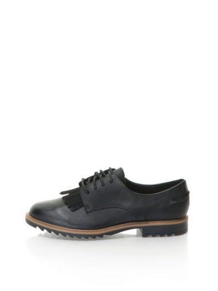 Pantofi Brogue negri de piele Griffin