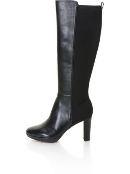 Cizme negre inalte Kendra Glove