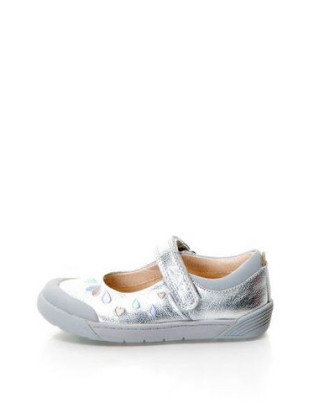 Pantofi Mary Jane argintii Folk