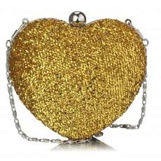 Clutch Gold Heart