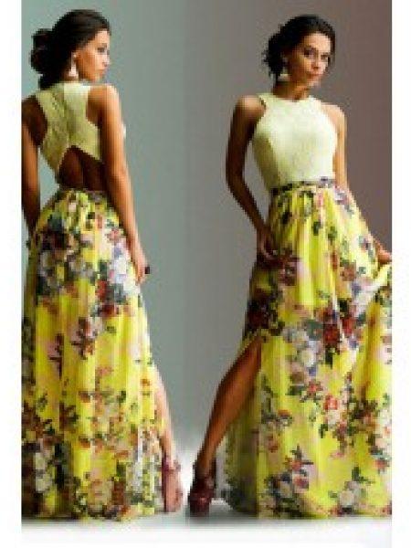 Rochie De Seara Yellow Summer