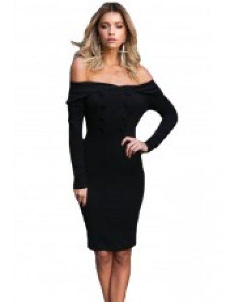 Rochie Eleganta Black Buttons