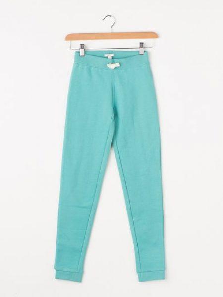 Pantaloni sport turcoaz de bumbac organic