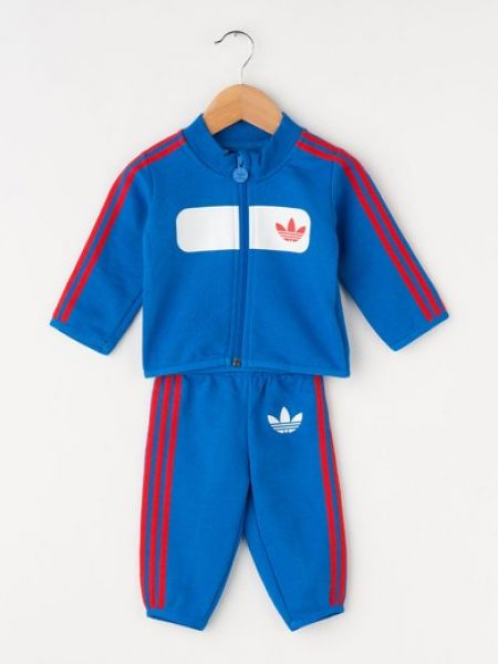 Costum sport albastru cu garnituri rosii Street Driver