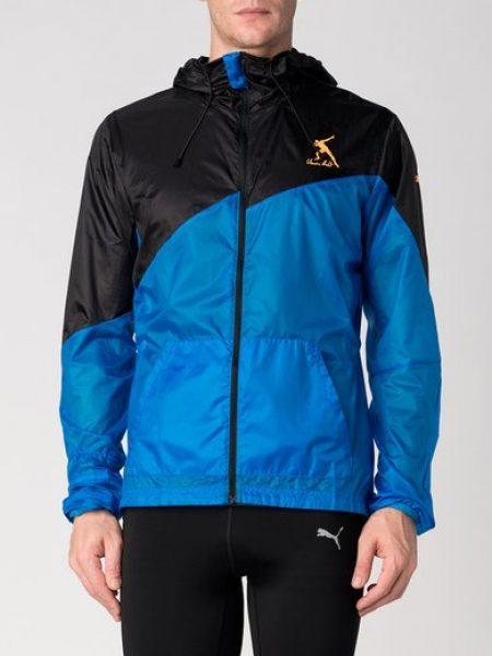 Jacheta rezistenta la vant neagra cu albastru Bolt