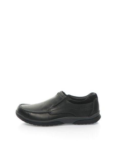 Pantofi boat negri de piele nabuc Randle Free