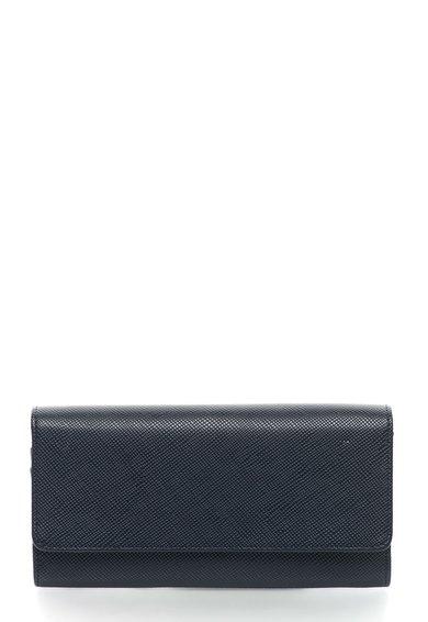 Portofel bleumarin cu exterior texturat