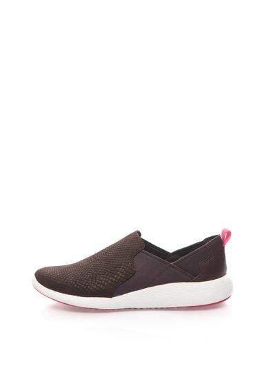 Pantofi slip-on violet aubergine de piele Cowley Aqua