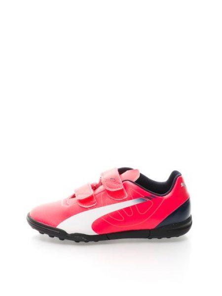 Tenisi roz neon cu velcro Evo Speed