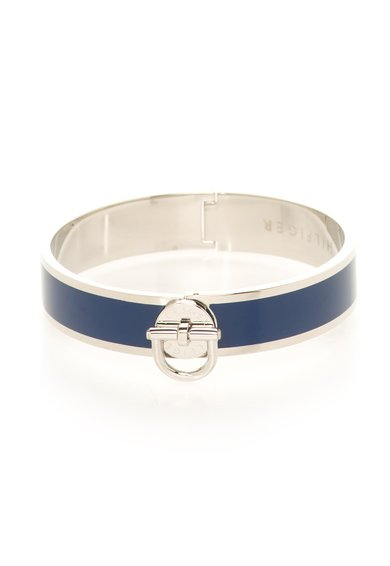 Bratara rigida argintiu cu albastru
