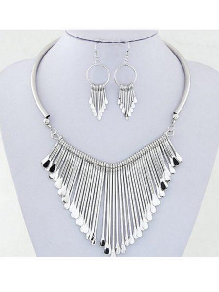 Set Colier ZonC63 Argintiu