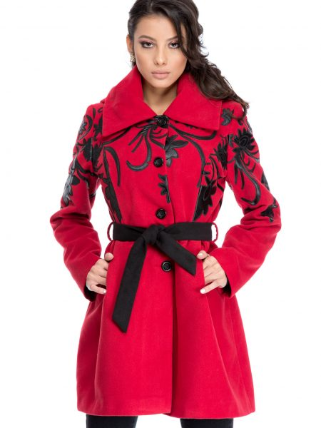 Palton Classy Rosu