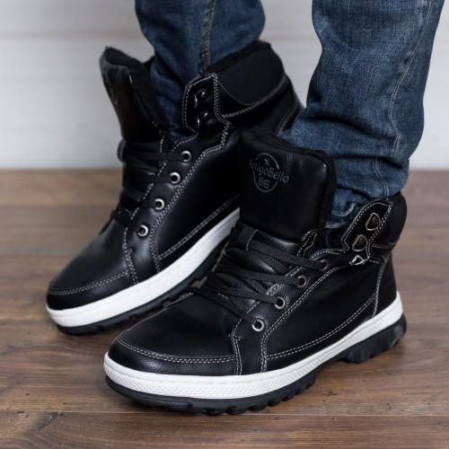 preț redus pantofi exclusivi selecție premium Ghete barbati Joell negri casual de iarna   Reduceri imbracaminte ...