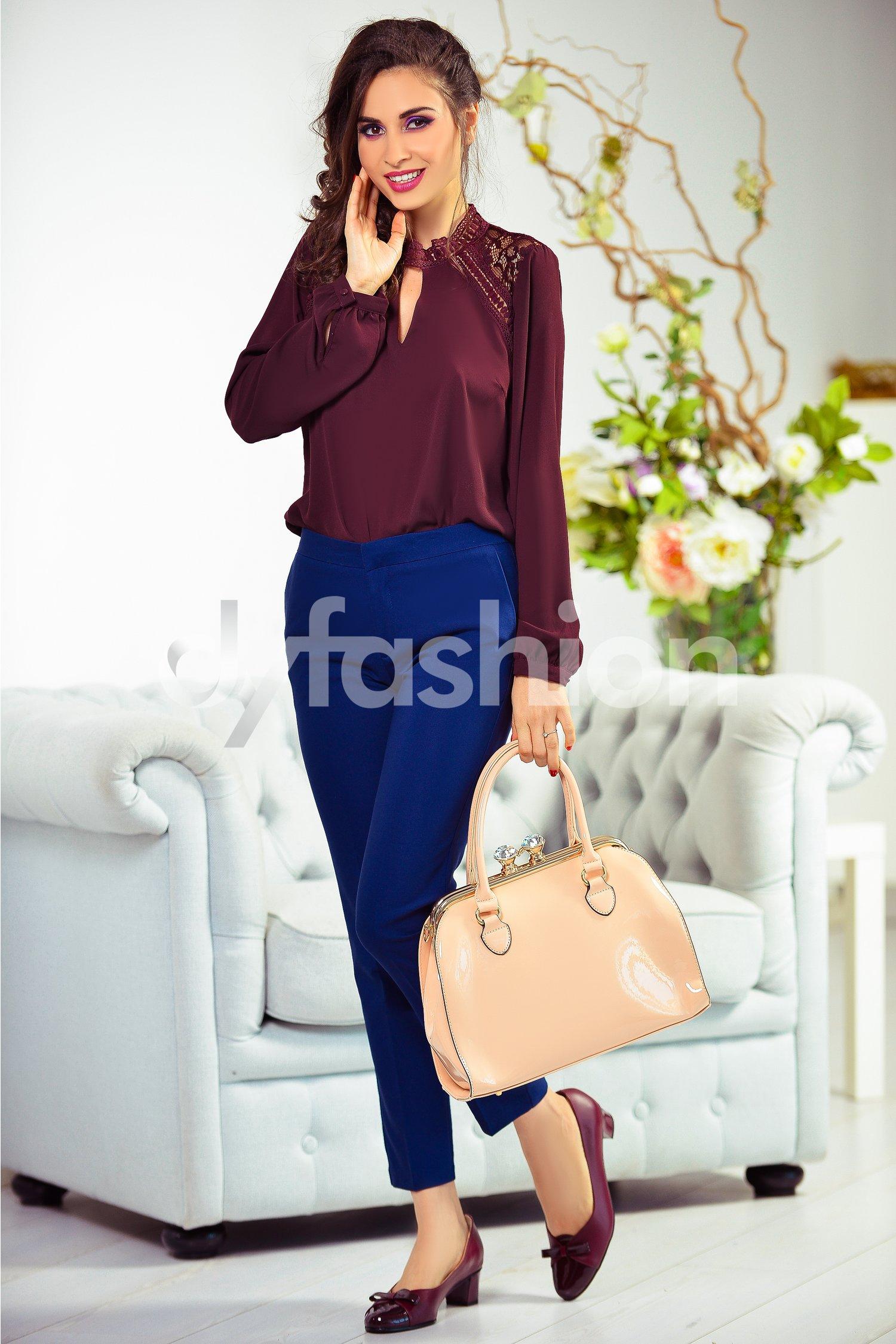 Pantalon Haru Bleumarin Office Eleganti, colectia 2018