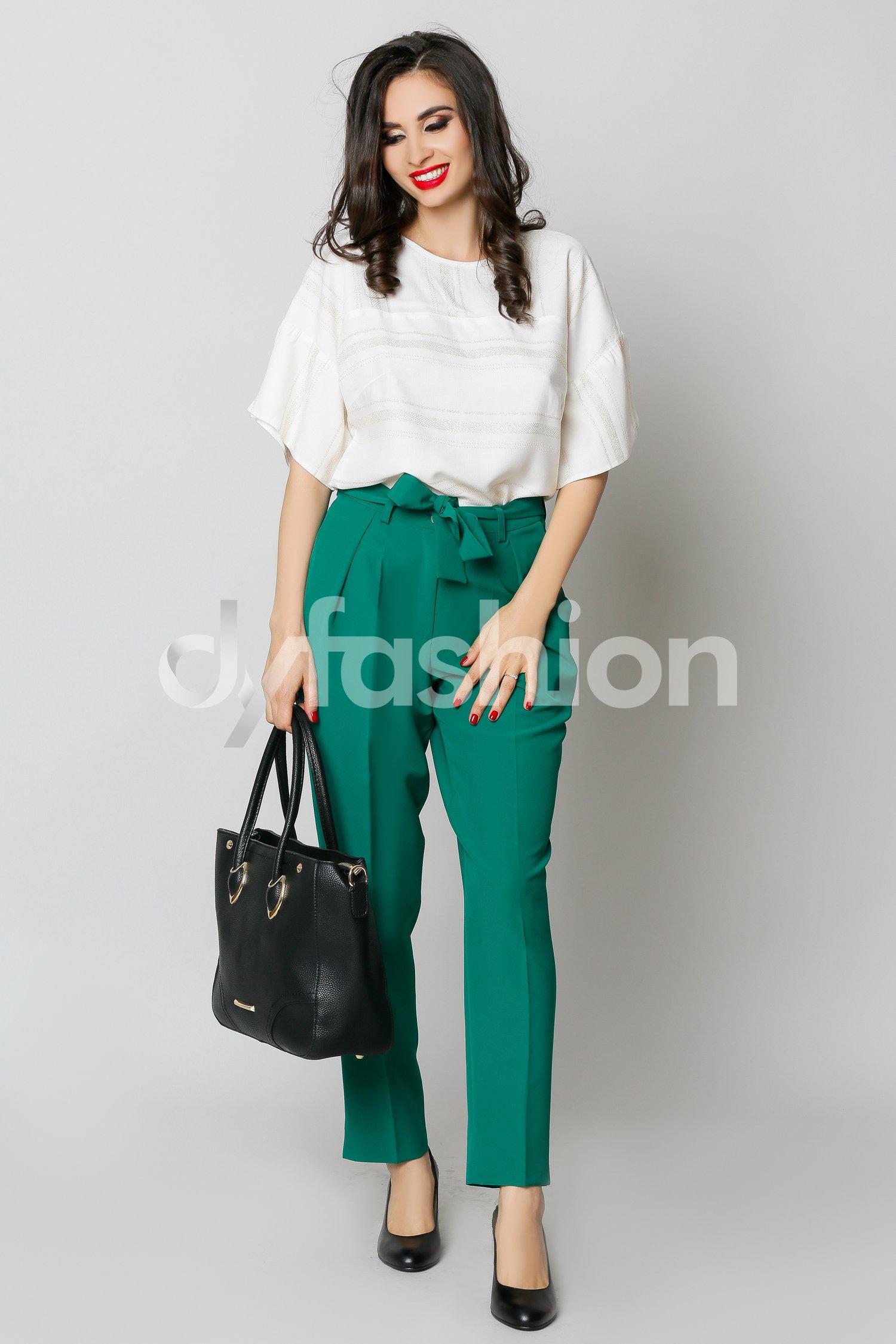 Pantaloni Enido Verde Office Elegant, colectia 2018