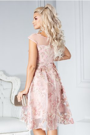 rochie scurta roz de ocazie