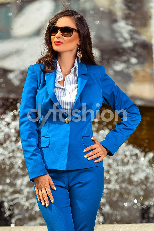 Sacou Anastasia Albastru Office de Zi, colectia 2018