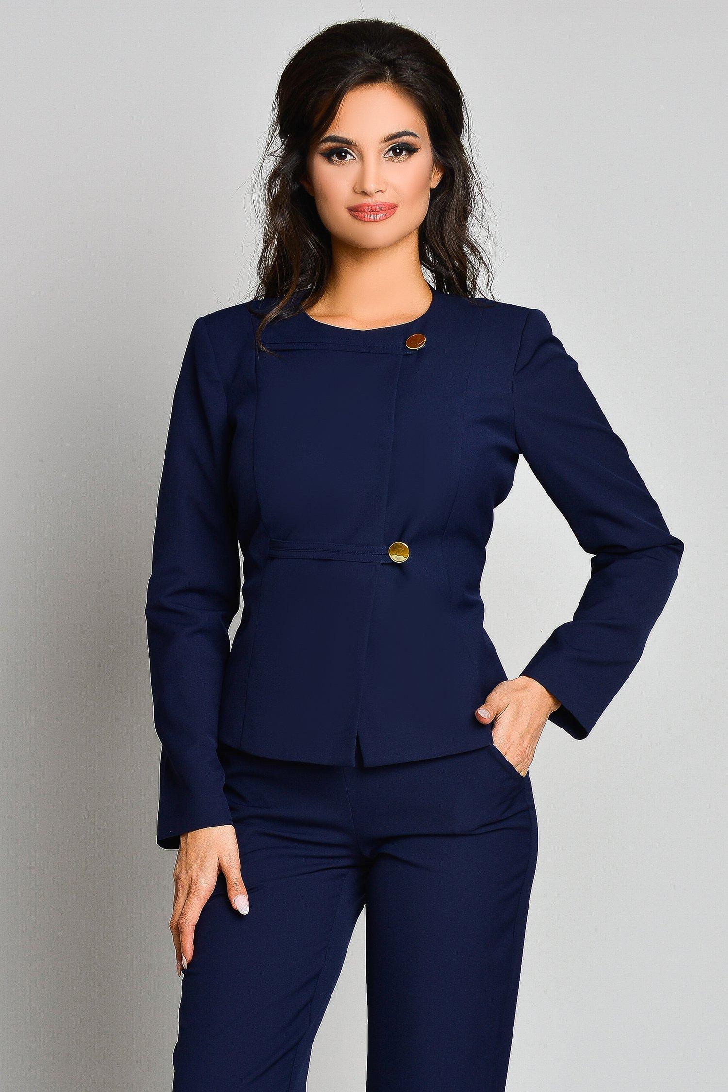 Sacou Ginette Bleumarin Office Elegant, colectia 2019
