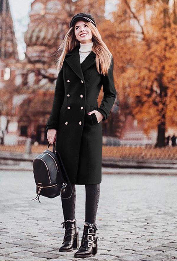 Palton Roxanne Negru