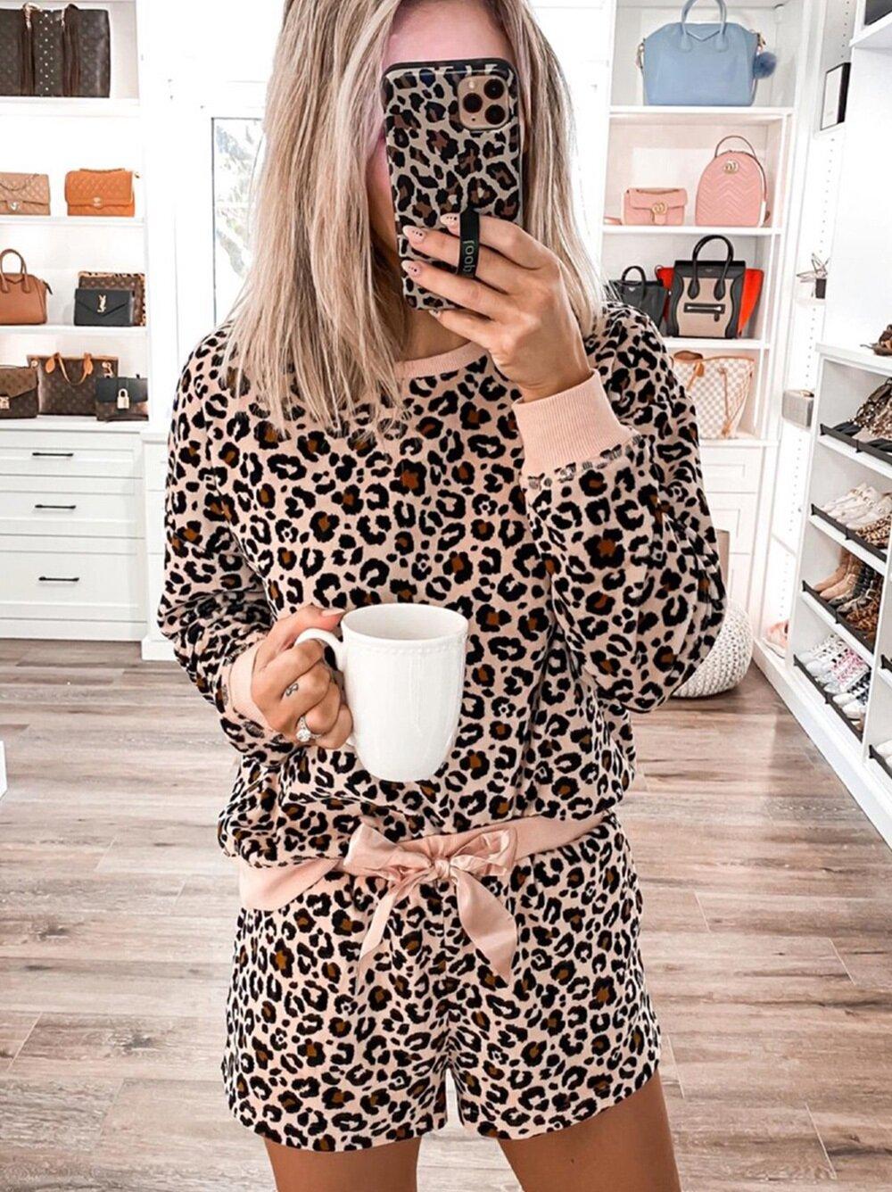 Set Pijama Bianka Leopard