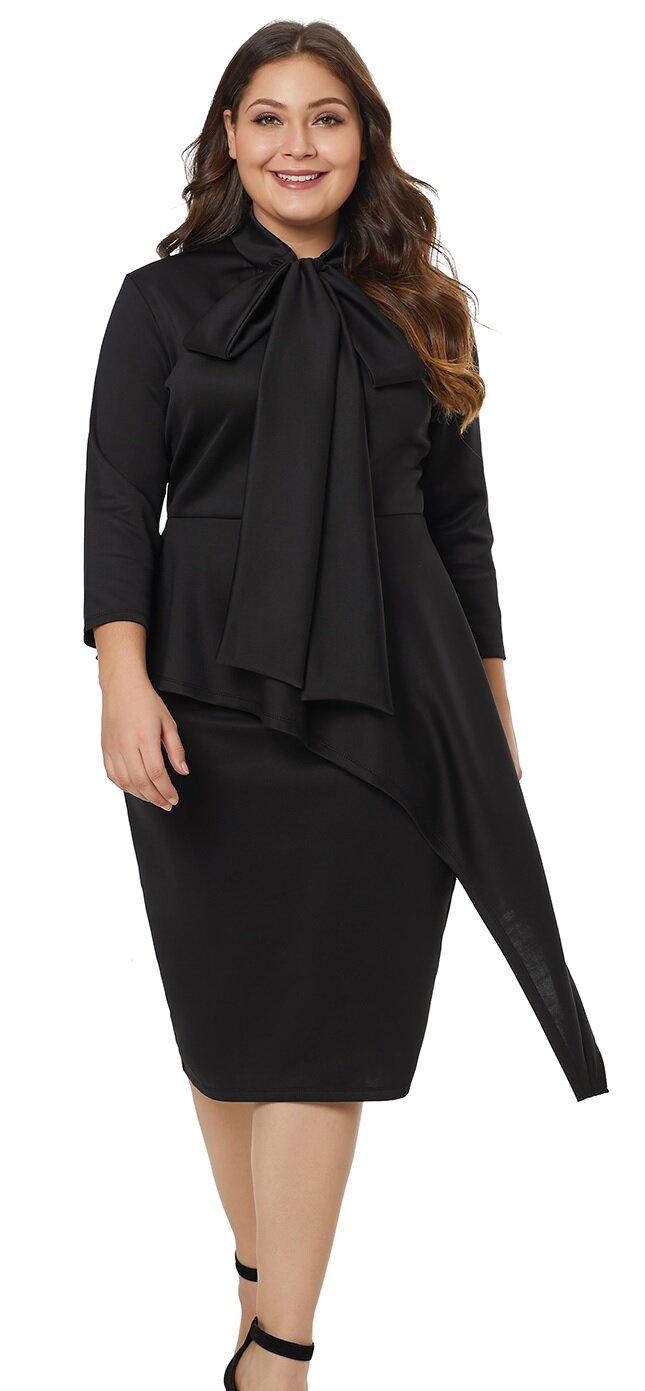Rochie Midi Plus Size Sreya Neagra