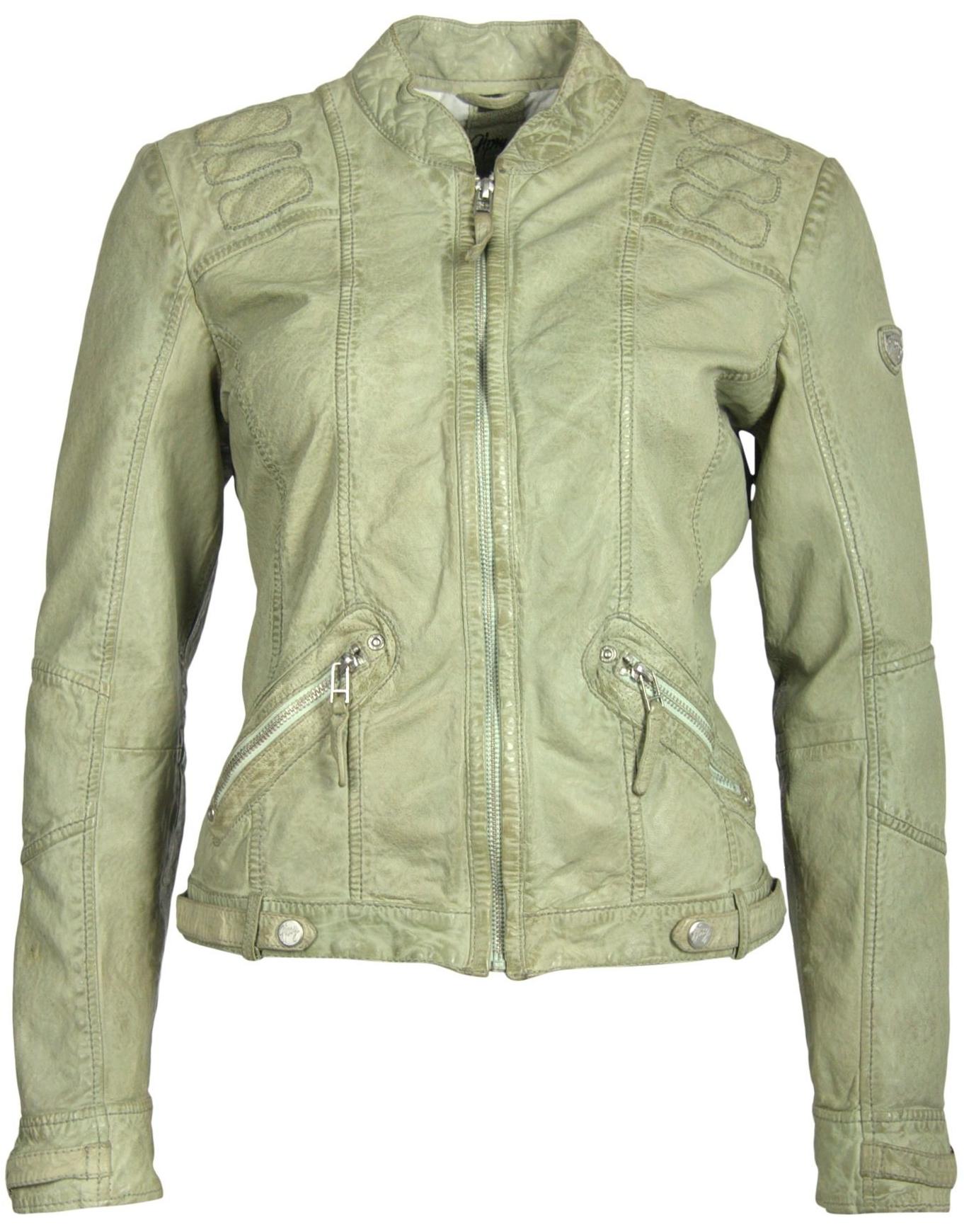 Geaca de Piele Naturala Dama Gipsy Verde Deschis Macy S19 LADAV