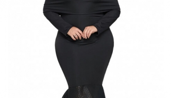 Rochie Maxi Eleganta Cu Umeri Goi Laura Neagra