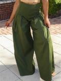 Pantaloni Talie Inalta Gefion Verzi