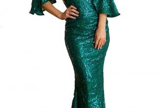 Rochie Maxi Eleganta De Seara Elen Verde